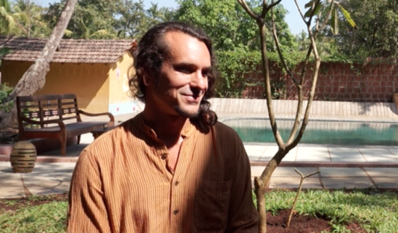 Vajra Ben Ashara at his retreat center in Goa.