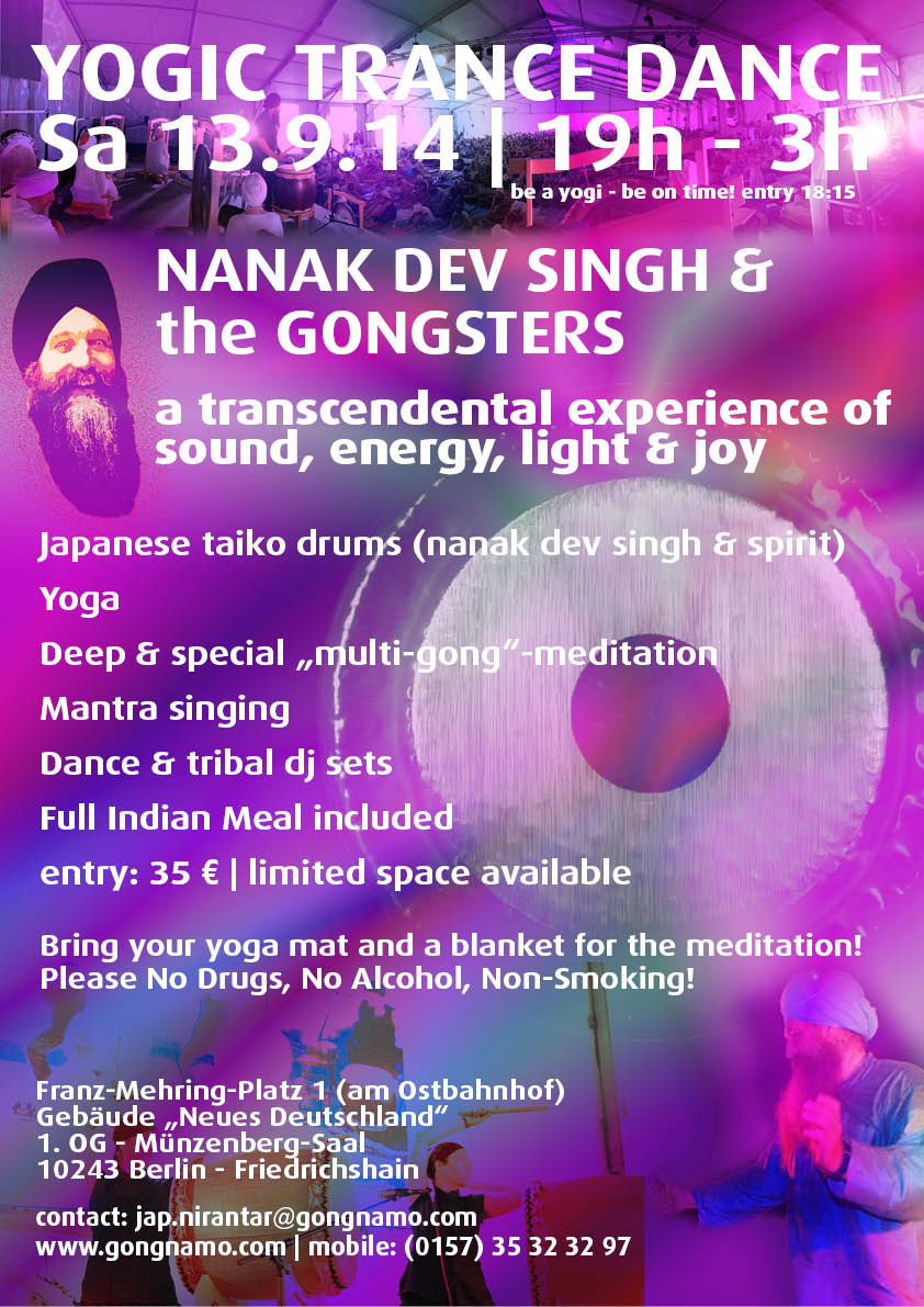 yogic trance dance with nanak dev singh in berlin